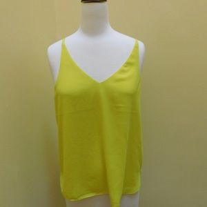 Topshop double strap camisole yellow size 8